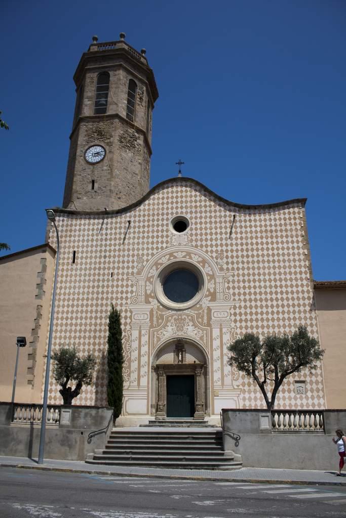 iglesia de les creus pineda de mar