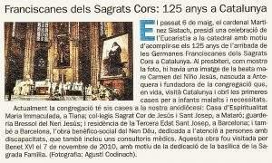iglesia de les franciscanes dels sagrats cors mataro