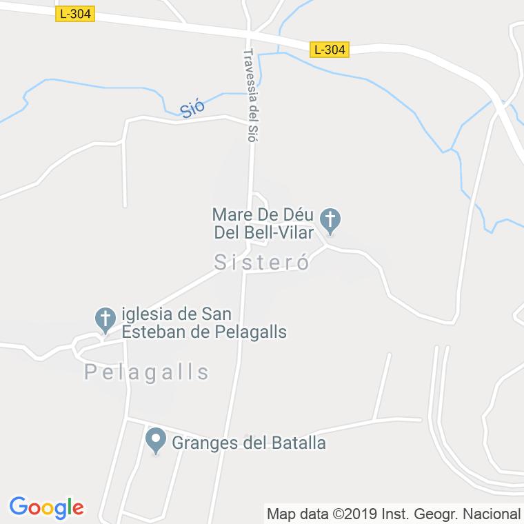 parroquia de la mare de deu del bell vilar sistero