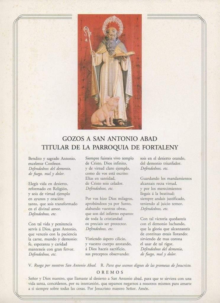 parroquia de san antonio abad fortaleny