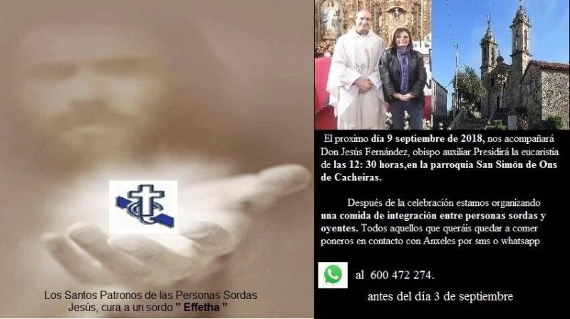 parroquia de san simon de ons pastoral de sordos de santiago de compostela cacheiras